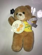 Vintage 1986 Stuffed Animal Applause Teddy Bear 9 1/2 In Party Animal Rare - $14.01