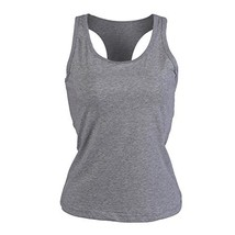 Moxeay Women's Adjustable Lace Trim Cotton Basic Cami Tops XX-Large, Gray-2 - $21.40