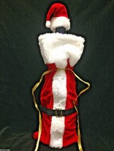 Christmas SANTA SUIT WINE BOTTLE COVER HAT CAP Holiday Decorations Gift ... - $3.89