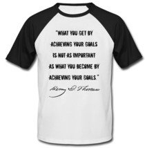 Henry David Thoreau - New Cotton Baseball Tshirt - $27.10