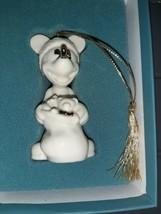 Lenox 1997 Mickey Mouse Christmas Ornament Ho Ho Ho Santa Porcelain Gold & Cream - $24.99