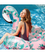 YhsBUY® Inflatable Floral Print Flamingo Giant Pool Float Circle Party W... - $122.52