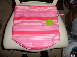 Vera Bradley lighten up Ditty Bag Pink Tonal Stripe pattern NWT - $21.50