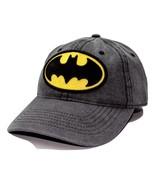 Batman Marvel Comics Patched Logo Adjustable Snap back Denim Dad Hat Sty... - $18.04