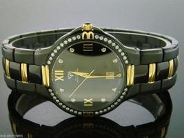 Men's Aqua Master Swiss 40mm 1.00ct 40 PCS Diamonds Watch Black Case - $593.01