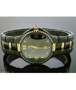 Men's Aqua Master Swiss 40mm 1.00ct 40 PCS Diamonds Watch Black Case - $593.01