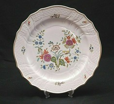 "Bellevue by Hutschenreuther 10-1/2"" Dinner Plate Floral Gold Rim Dresden Germany - $24.74"