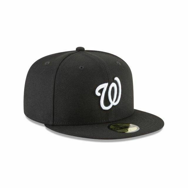 New Era MLB Washington Nationals Black&White Basic 59FIFTY FITTED HAT
