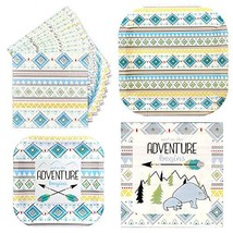 Havercamp Adventure Begins Boy Party Bundle | Dinner & Dessert Plates, L... - $19.17
