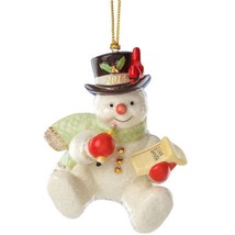 Lenox 2014 Snowman Figurine Ornament Annual Making  List For Santa Chris... - $33.00