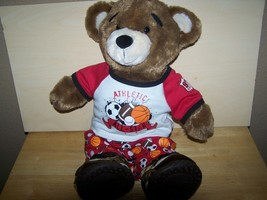"Build-a-Bear 16"" ALL-STAR Sports Varsity Plush Stuffed Animal Bear EUC - $42.00"