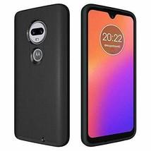 Motorola G7 Case Hybrid Dual Layer Shock Absorbing AntiScratch Rugged Black - $17.36