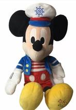 "Disney Mickey Mouse Sailor Plush Macys Holidays 2009 Talking Plush 20"" - $23.46"