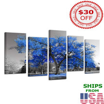 Wall Painting Blue Tree Best Interior Design Idea Home Decoration - $77.99+