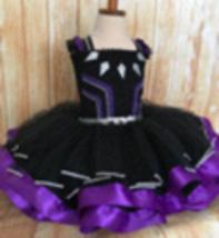 Black Panther Tutu Dress, Black Panther Girls Costume - $60.00+