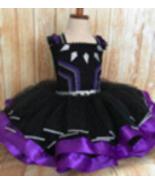 Black Panther Tutu Dress, Black Panther Girls Costume - $60.00 - $70.00