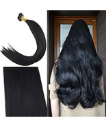 Youngsee 22inch Jet Black Nano Rings Real Human Hair Extensions 1G Per S... - $60.02