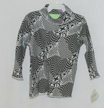 Snopea 3 Piece Outfit Vest Shirt Pants Black White Velour Size 18 Months image 3