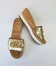 Michael Kors MK Womens Shoes Sandals Wedge Metallic Gold White Size US 7... - €41,14 EUR