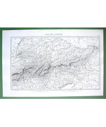 1846 ORIGINAL MAP - N. ITALY Austria Switzerland Rivers Po & Danube 10 x... - $18.90