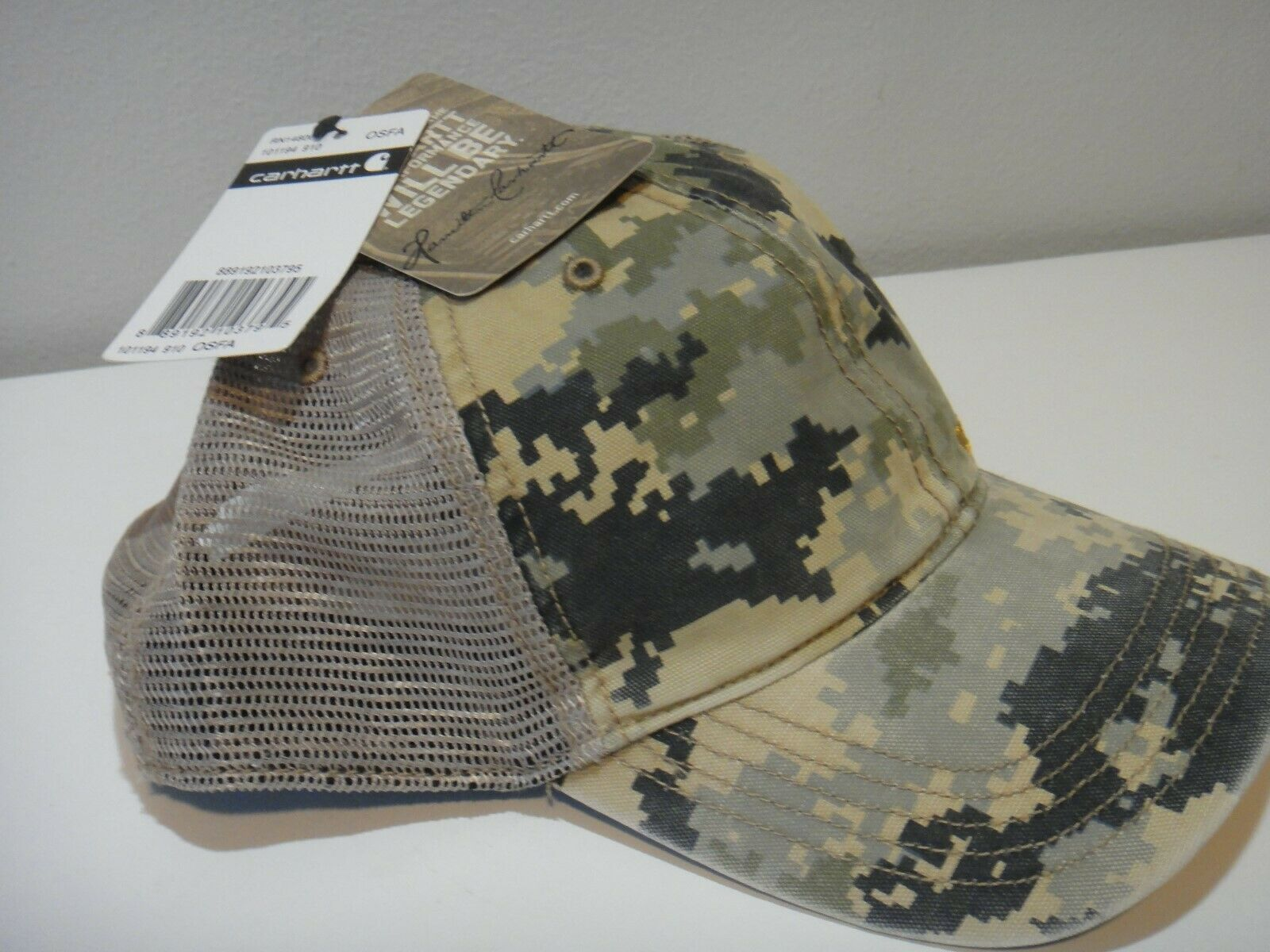 Carhartt Mens Camo Snap Back Adjustable Hat