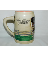 1988 World Famous Budweiser Clydesdale Mare & Foal Stein 5 1/2 Inches Tall - $15.99