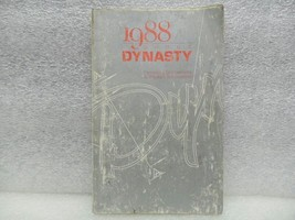 DYNASTY   1988 Owners Manual 16597 - $12.86