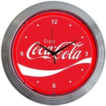"Coca-Cola Wave Neon Clock 15""x15"" - $69.00"
