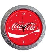"""Coca-Cola Wave Neon Clock 15""""x15"""" - $69.00"""