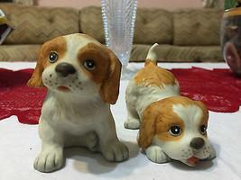 Vintage HOMCO Springer Spaniel Cute Matte Porcelain Dog Figurines #1407 VGC - $10.30
