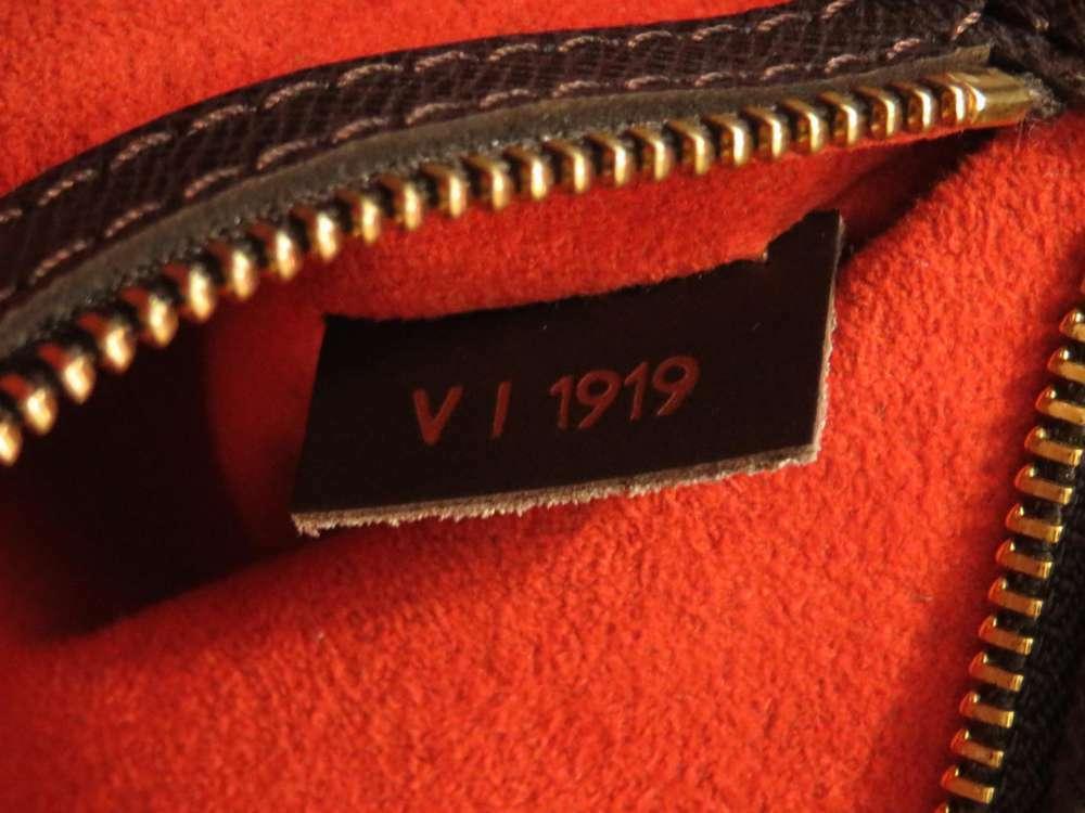 LOUIS VUITTON Brera Damier Canvas Ebene Handbag N51150 France Authentic image 9