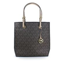 e63c953e74a8 Michael Kors Jet Set Item North South Tote in Signature Brown PVC - NWT -  $198