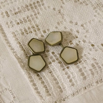 Vintage Art Deco Inlaid Mother of Pearl French Cufflinks Cuff Links - $30.00