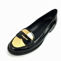 "DONALD PLINER DMSX ""Yev"" Black Gold Penny Loafers Flats  Size 7.5  - $49.49"