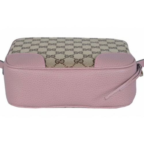 NEW Gucci Beige Pink GG Guccissima Leather Bree Crossbody Camera Shoulder Bag image 3