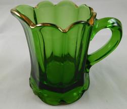 Antique  GREEN PATTERN Glass Souvenir Pitcher Creamer G14 - $12.86