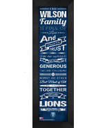 "Personalized Columbia University Lions ""Family Cheer"" 24 x 8 Framed Print - $39.95"