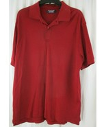 ROUNDTREE & YORKE Mens Red Short Sleeve Polo Size L  - $7.91
