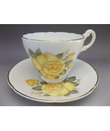 Consort Tea Cup Saucer Set English Bone China Yellow Roses - $21.78