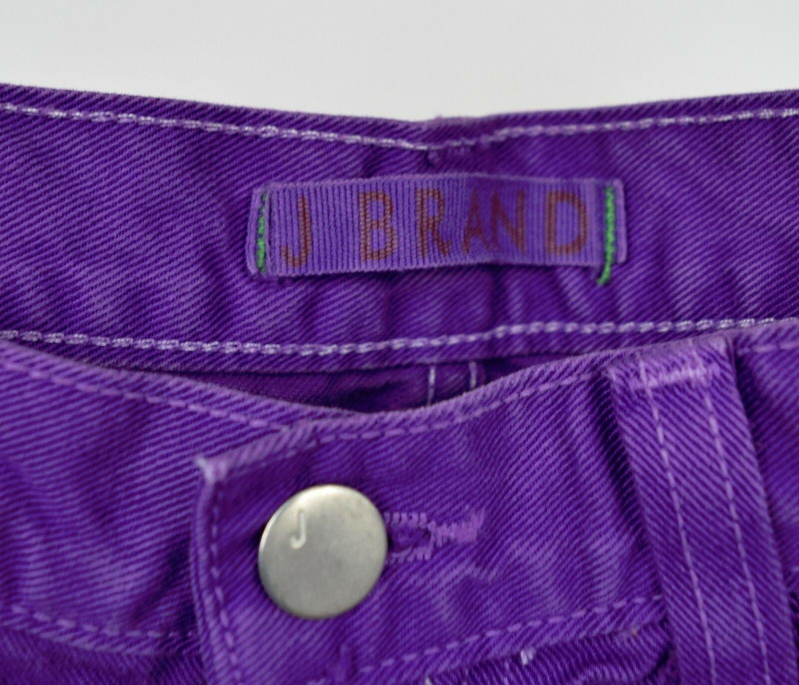 J Brand 7037 Bright Purple Cut Off Short Jeans 26 Womens USA image 8