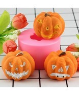 Candle Silicone Molds 3D Halloween Pumpkin Shape Fondant Crafts Cake Dec... - $9.47 CAD