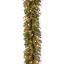 National Tree 9 Foot by 10 Inch Norwood Fir Garland with 50 Clear Lights NF-9ALO image 3