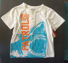 OshKosh B'gosh Toddler Boys T-Shirt Shark Beach Crew Patrol Size 2T NWT - $14.99