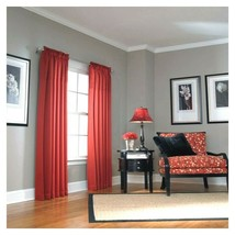 "Allen Roth Lincolnshire Rod Pocket Window Panel Drape Curtain RED 84""L NIP - $26.72"