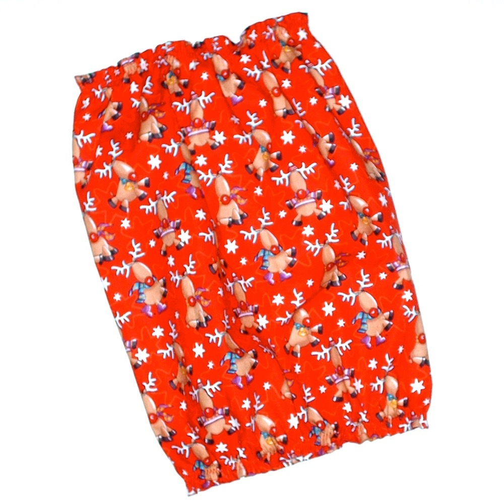 Christmas Holiday Reindeer Red Cotton Dog Snood by Howlin Hounds Size XL