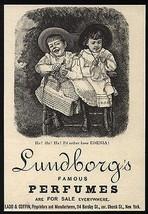 Perfume Lundborgs Edenia Bottle Victorian Little Girls 1890s Ad - $14.99