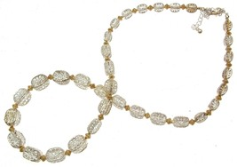 Statement Necklaces Beaded Necklaces Silver And Gold Beads Code 11130 - $16.32