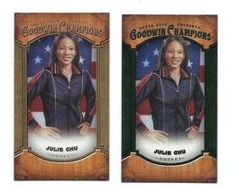 Lot of 2 2014 Upper Deck Goodwin Champions Julie Chu Mini Cards Lady Luck  - $4.95