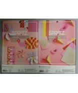 Set of 2 Spritz Paper Pads Scrapbook Paper Cardstock Glitter Valentines ... - $9.90