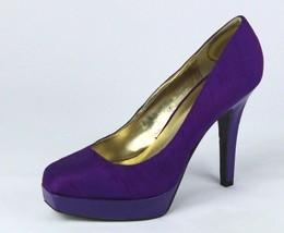 Nine West Damen Schuhe Absatz Pumps Textil-Obermaterial Lila GRÖSSE 8,5 M - $23.04